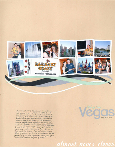 Vegas Trip Multi-Photo Scrapbook Layout by Natalie Parker