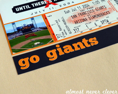 San Francisco Giants Scrapbook Pages