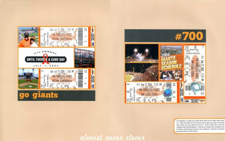 Scrapbook Layout Baseball Almost Never Clever