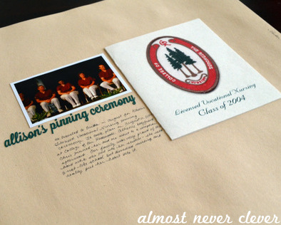 Nursing Graduation Scrapbook Layout by Natalie Parker