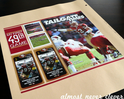49ers Football Layout by Natalie Parker