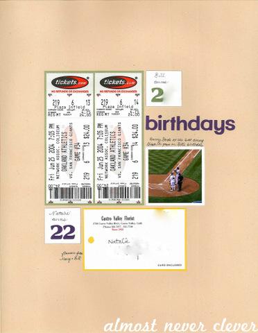 Birthdays Scrapbook Layout by Natalie Parker 1