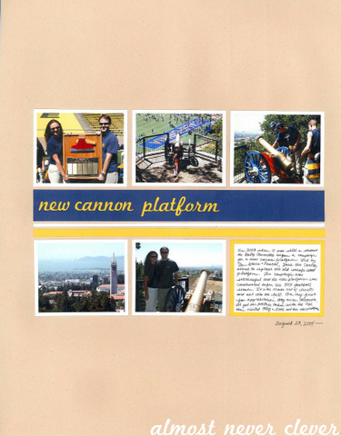 Cannon Platform Scrapbook Layout by Natalie Parker