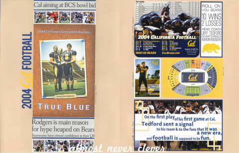 Football Scrapbook Layout by Natalie Parker
