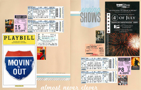 Theater & Movies Scrapbook Layout by Natalie Parker