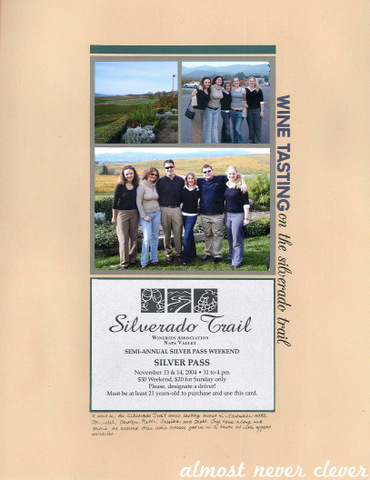 Wine Tasting Scrapbook Layout by Natalie Parker