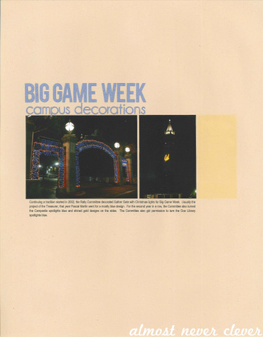 Big Game Week Scrapbook by Natalie Parker