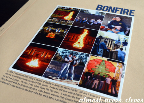 Bonfire Scrapbook Layout by Natalie Parker