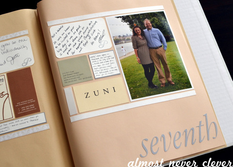 Anniversary scrapbook almost never clever