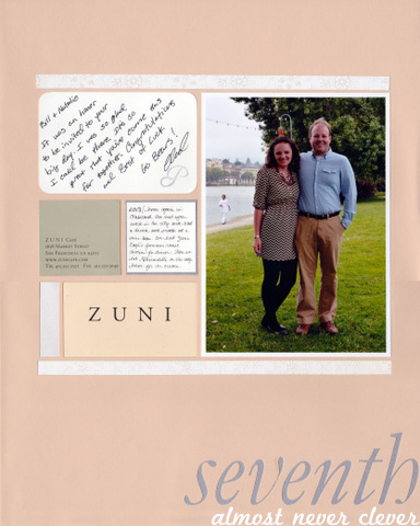 Scrapbook Layout Wedding Scrapbook 7th Anniversary Layout Almost
