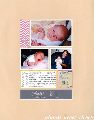 Baby Niece Scrapbook Layout by Natalie Parker