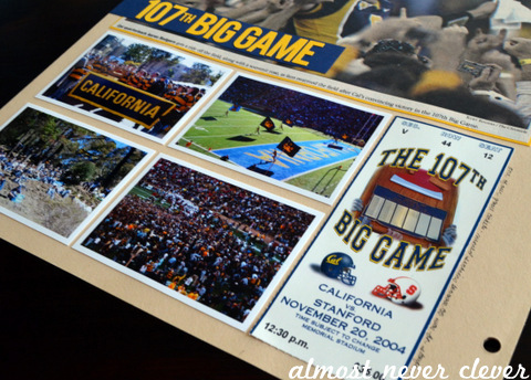 Big Game Football Scrapbook Layout by Natalie Parker