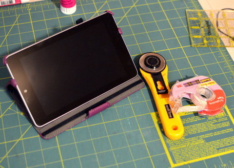 Nexus 7 Tablet on Craft Table by Natalie Parker