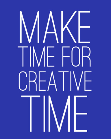 Make time for creative time by Natalie Parker