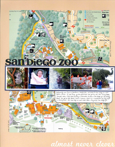 San Diego Zoo Scrapbook Layout by Natalie Parker