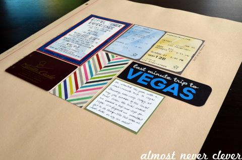 Vegas Scrapbook Layout by Natalie Parker