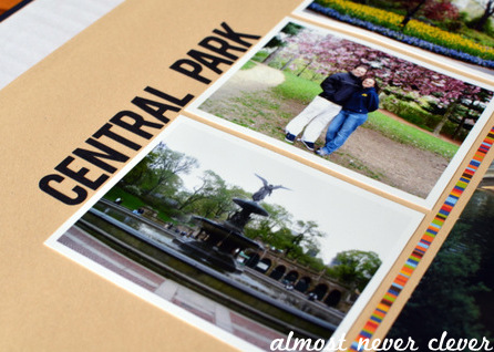 Central Park Scrapbook by Natalie Parker