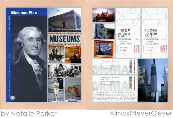 New York Museum Scrapbook Layout by Natalie Parker