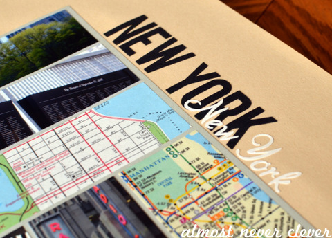 New York Vacation Scrapbook Page by Natalie Parker