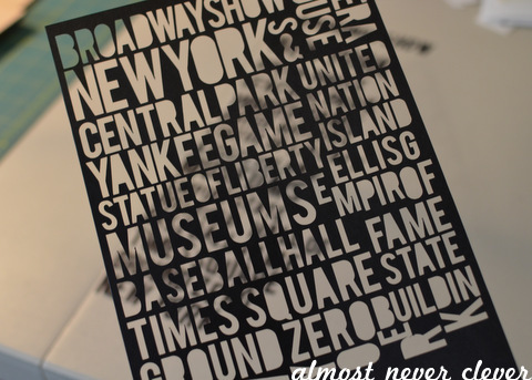 New York Vacation Srapbook by Natalie Parker