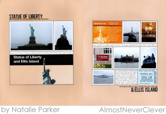Statue of Liberty Scrapbook Layout by Natalie Parker