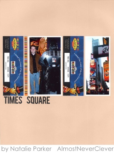 Times Square Scrapbook Layout by Natalie Parker