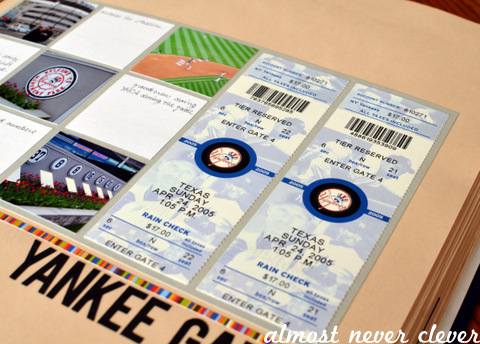 Yankee Stadium Scrapbook Layout by Natalie Parker