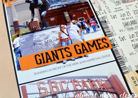 Baseball Scrapbook Layouts by Natalie Parker