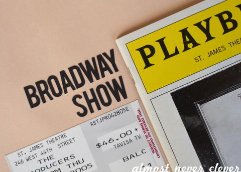Broadway Show Scrapbook Layout by Natalie Parker