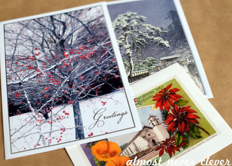 Christmas Card Notecards by Natalie Parker