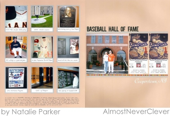 Cooperstown Scrapbook Layout by Natalie Parker