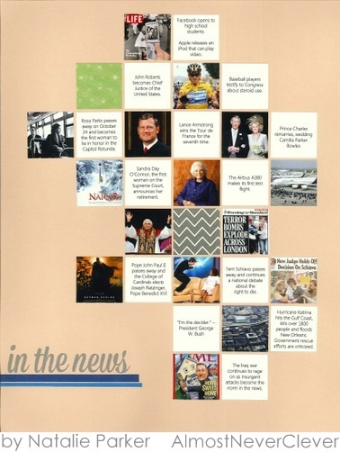 Current Events Scrapbook Layout by Natalie Parker