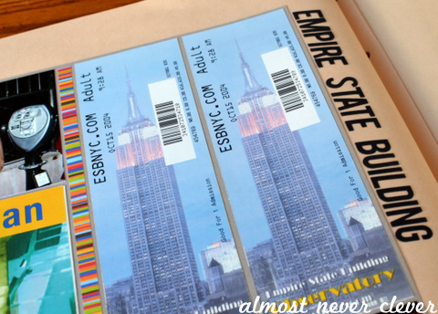 Empire State Building Scrapbook Layout by Natalie Parker