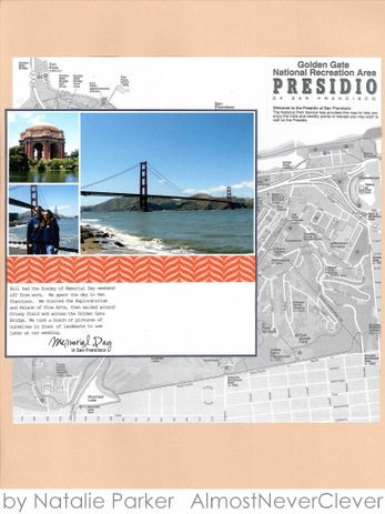 Golden Gate Bridge Scrapbook Layout by Natalie Parker