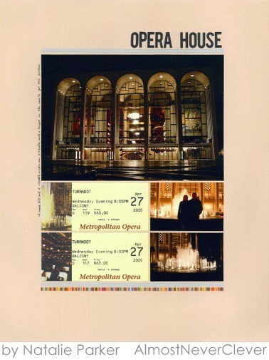 New York Opera Scrapbook Layout by Natalie Parker