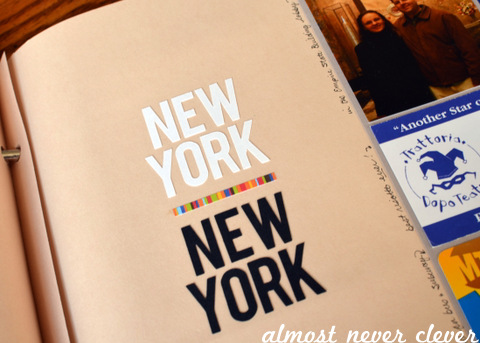 New York Scrapbook Layout by Natalie Parker
