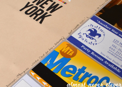 New York Scrapbook Layout by Natalie Parker