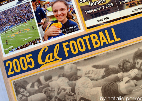 Football Season Scrapbook Layout by Natalie Parker