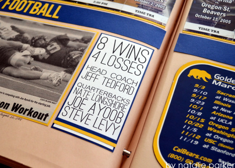 Football Scrapbook Almost Never Clever
