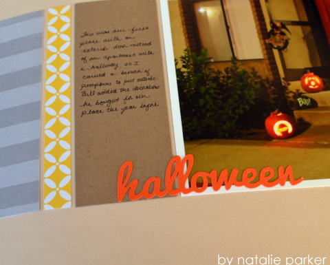 Halloween Scrapbook by Natalie Parker