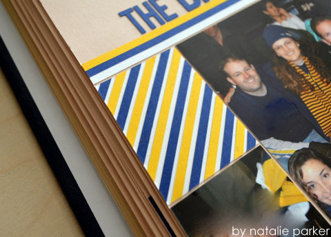 Hockey Scrapbook Layout by Natalie Parker