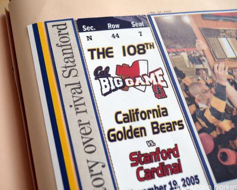 Big Game Scrapbook Layout by Natalie Parker
