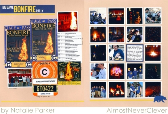Bonfire Scrapbook by Natalie Parker