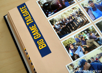 Football Tailgate Scrapbook by Natalie Parker