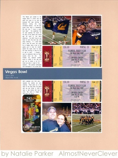 Bowl Game Scrapbook by Natalie Parker