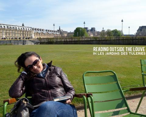 Reading in Les Jardins des Tuleries in Paris, by Natalie Parker