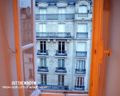 View out an apartment window in Paris by Natalie Parker