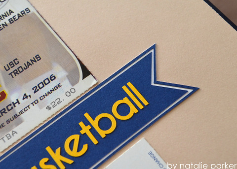Basketball Scrapbook Layout by Natalie Parker