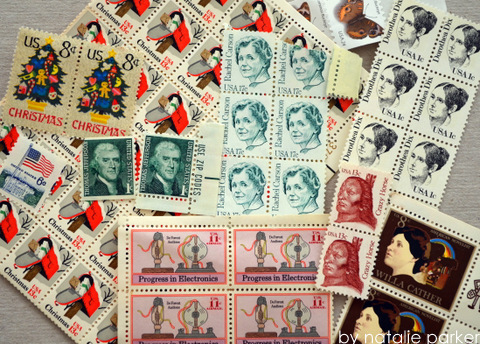 Old Stamps by Natalie Parker