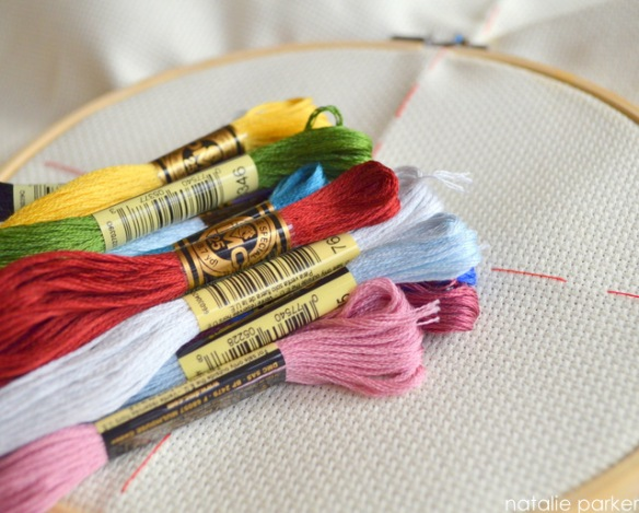 Cross-Stitching by Natalie Parker